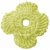 Oh Lucky Day - Green Crocheted Flower