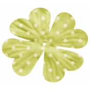 Oh Lucky Day- Green Polkadot Flower