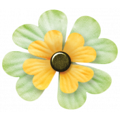 Oh Lucky Day- Yellow & Light Teal Clover Flower