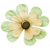 Oh Lucky Day- Light teal & Cream Clover Flower