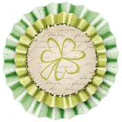 Oh Lucky Day- Light Teal & Green Burlap Flower