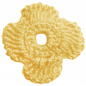 Oh Lucky Day- Yellow Crocheted Flower