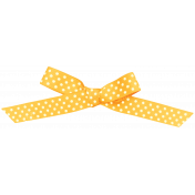Oh Lucky Day- Yellow Polka Dot Bow