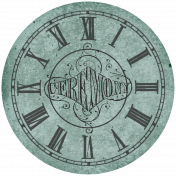 Country Wedding- Ceremony Clock Face