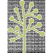 Green Tree Shape Sticker