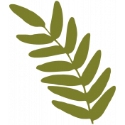Leafy Branch Template 01