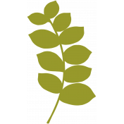 Leafy Branch Template 03