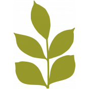 Leafy Branch Template 02