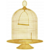Enchanted- Birdcage Sticker