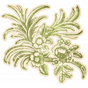 Enchanted- Vintage Floral Sticker