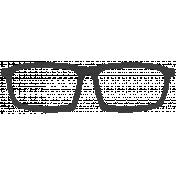 Hello- Black Paper Glasses