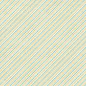 Hello- Blue & Orange Diagonal Stripes Paper