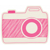 Hello- Doodled Camera Pink