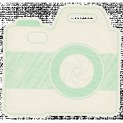 Hello- Doodled Camera Green