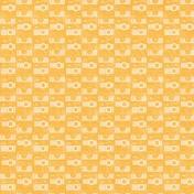 Hello- Orange Camera Paper