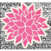 Hello- Pink Paper Flower