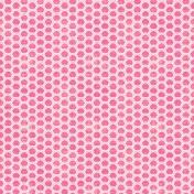 Hello- Pink & White Rainbow Pattern Paper