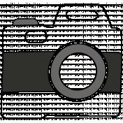 Camera Doodles Set- Camera #03 Illustration