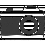 Camera Doodles Set- Camera #05 Illustration