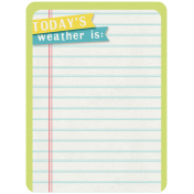 Rain, Rain- Journal Cards- Today's Weather