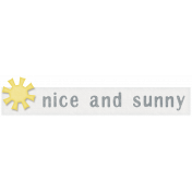 Rain, Rain- Nice And Sunny Label
