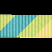 Rain, Rain- Diagonal Striped Ribbon