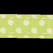 Rain, Rain- Green Polkadot Ribbon