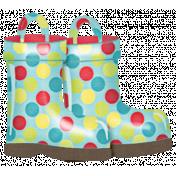 Rain, Rain- Colorful Polka Dot Rain Boots