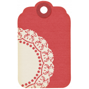I Love You Mom- Doily Tag