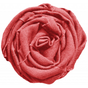 I Love You Mom- Red Fabric Rose