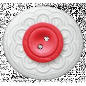 Rain, Rain- White and Red Button