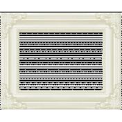 Rain, Rain- White Ornate Frame
