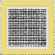 Rain, Rain- Yellow Frame