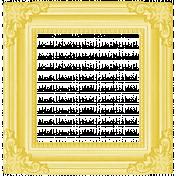 Rain, Rain- Yellow Ornate Frame