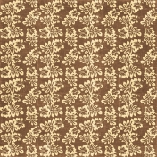 At The Beach- Brown & Tan Hibiscus Paper