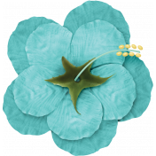 At The Beach- Flower Teal