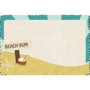 At The Beach- Beach Bum Journal Card
