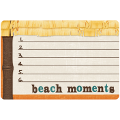 "At The Beach- ""Beach Moments"" Journal Card"