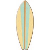 At The Beach- Striped Surf Board