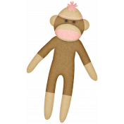 Oh Baby, Baby- Brown & Pink Sock Monkey