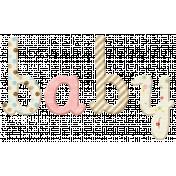 Oh Baby, Baby- Wooden Baby Word Art