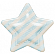 Oh Baby, Baby- Blue Striped Star