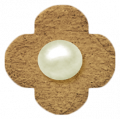 Oh Baby, Baby- Chipboard Flower- Brown