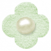 Oh Baby, Baby- Chipboard Flower- Green