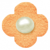 Oh Baby, Baby- Chipboard Flower- Orange
