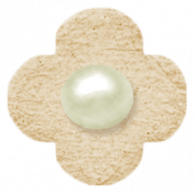 Oh Baby, Baby- Chipboard Flower- Tan