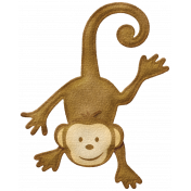 Oh Baby, Baby- Felt Hanging Monkey