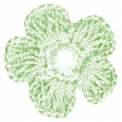 Oh Baby, Baby- Green Doily Flower
