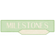 Oh Baby, Baby- Green Milestone Label