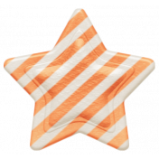 Oh Baby, Baby- Orange Striped Star